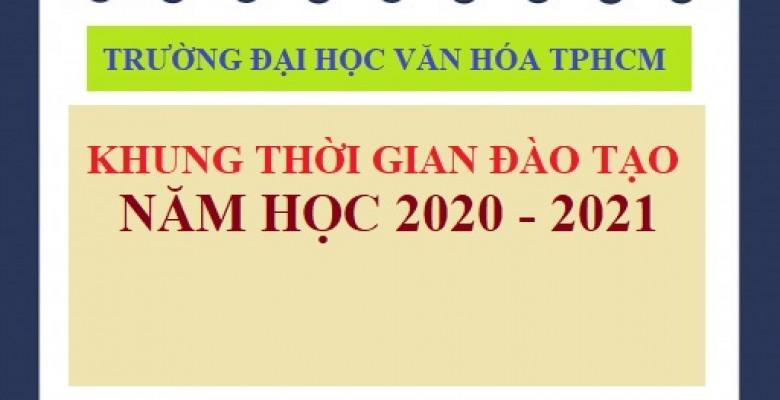 Khung thời gian đào tạo năm học 2020 - 2021